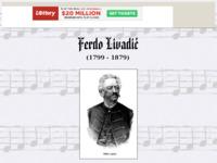 Frontpage screenshot for site: Ferdo Livadić (http://members.tripod.com/~buja/livadic.html)