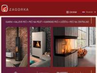Frontpage screenshot for site: Kamini i kaljeve peći (http://www.zagorka.hr/)