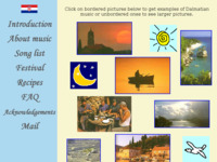 Frontpage screenshot for site: Dalmatian culture (http://public.carnet.hr/dalmatia/)