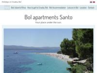 Frontpage screenshot for site: Apartmani Santo (http://www.villa-bol.com)