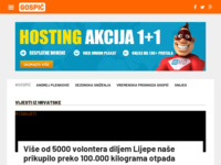Slika naslovnice sjedišta: Internet portal - grad Gospić (http://gospic-online.com/)