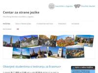 Frontpage screenshot for site: Centar za strane jezike Filozofskog fakulteta (http://www.ffzg.hr/centar/)