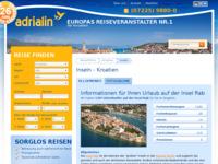 Frontpage screenshot for site: Rab (http://www.kroatien-adrialin.de/ortsinfos/insel-rab/)