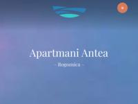 Frontpage screenshot for site: Apartmani Antea Rogoznica (http://www.apartmani-rogoznica.net)