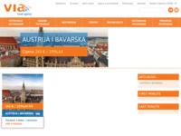 Frontpage screenshot for site: Turistička agencija Via (http://www.viaonline.hr/)