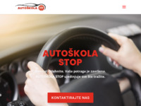 Slika naslovnice sjedišta: Auto škola Stop (http://www.autoskola-stop.hr)