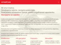 Frontpage screenshot for site: Creativa (http://www.creativa.hr)
