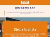 Frontpage screenshot for site: Proizvodnja, izgradnja i postavljanje. (http://www.stinasibenik.hr)
