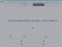 Frontpage screenshot for site: Duga tečajevi stranih jezika (http://www.duga-skola.com)