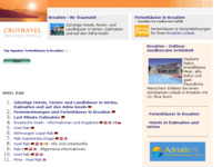 Frontpage screenshot for site: Rab (http://www.kroatien-links.de/insel-rab.htm)