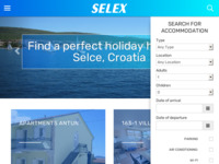 Frontpage screenshot for site: (http://www.selex.hr/)