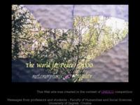 Slika naslovnice sjedišta: Mir 2000., Metamorfoze krhkosti, Web galerija (http://www.ffzg.hr/peace2000/)