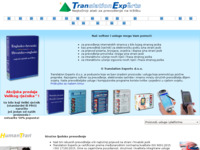 Frontpage screenshot for site: (http://www.tranexp.hr/)