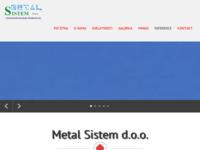 Slika naslovnice sjedišta: Metal sistem d.o.o. (http://www.metal-sistem.hr)