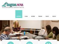 Frontpage screenshot for site: Lingua - Škola za strane jezike, Koprivnica (http://www.lingua-kc.hr)