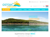 Frontpage screenshot for site: Apartmani Ostojić - Povlja na otoku Braču (http://www.povlja-brac.com/)