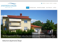 Frontpage screenshot for site: Apartmani u Puli - Štinjan (http://www.pula-apartmani.com)