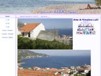 Frontpage screenshot for site: Aprtmani Lulić - Igrane (http://www.igrane.com/lulic-ante/)