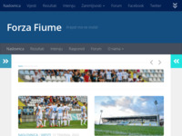 Frontpage screenshot for site: Forza Fiume (http://www.forza-fiume.com/)