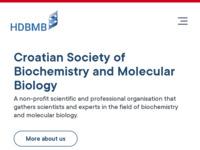 Slika naslovnice sjedišta: Hrvatsko društvo za biokemiju i molekularnu biologiju (http://www.hdbmb.hr/)